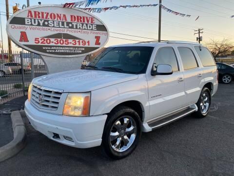2002 Cadillac Escalade for sale at Arizona Drive LLC in Tucson AZ