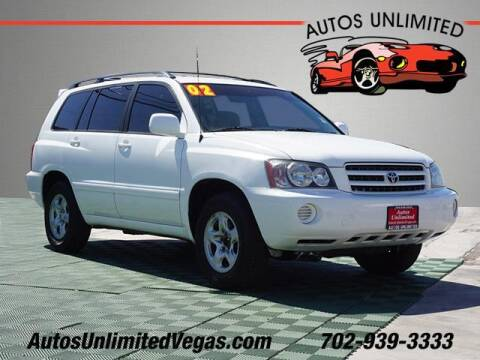 2002 Toyota Highlander for sale at Autos Unlimited in Las Vegas NV
