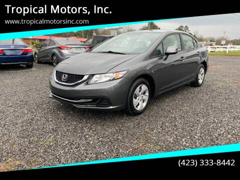 2013 Honda Civic for sale at Tropical Motors, Inc. in Riceville TN