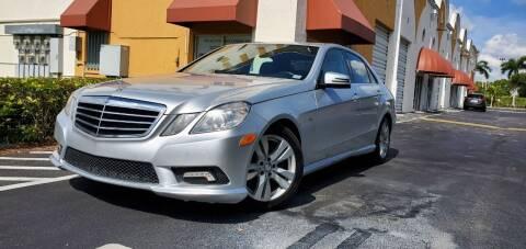 2011 Mercedes-Benz E-Class for sale at POLLO AUTO SOLUTIONS in Miami FL