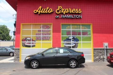 2009 Toyota Corolla for sale at AUTO EXPRESS OF HAMILTON LLC in Hamilton OH