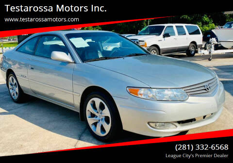 2002 Toyota Camry Solara for sale at Testarossa Motors Inc. in League City TX