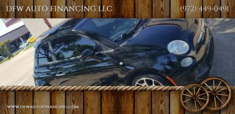 2013 FIAT 500 for sale at DFW AUTO FINANCING LLC in Dallas TX