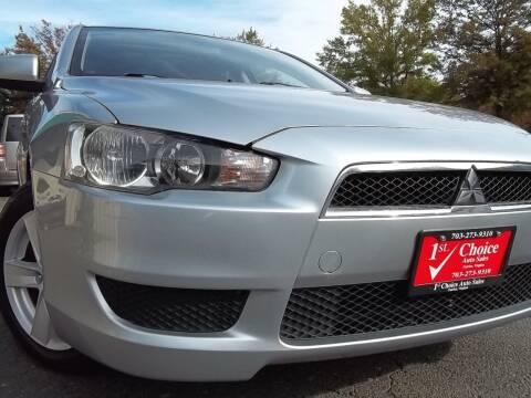 2008 Mitsubishi Lancer for sale at 1st Choice Auto Sales in Fairfax VA