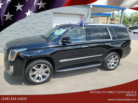 2017 Cadillac Escalade for sale at Motor City Direct Auto Sales & Service in Pontiac MI