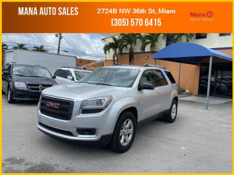 2015 GMC Acadia for sale at MANA AUTO SALES in Miami FL