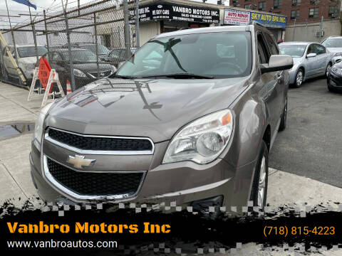 2012 Chevrolet Equinox for sale at Vanbro Motors Inc in Staten Island NY