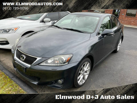 2011 Lexus IS 350 for sale at Elmwood D+J Auto Sales in Agawam MA