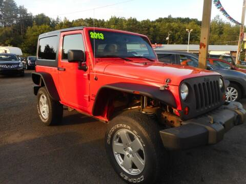 2013 Jeep Wrangler for sale at Automotive Toy Store LLC in Mount Carmel PA