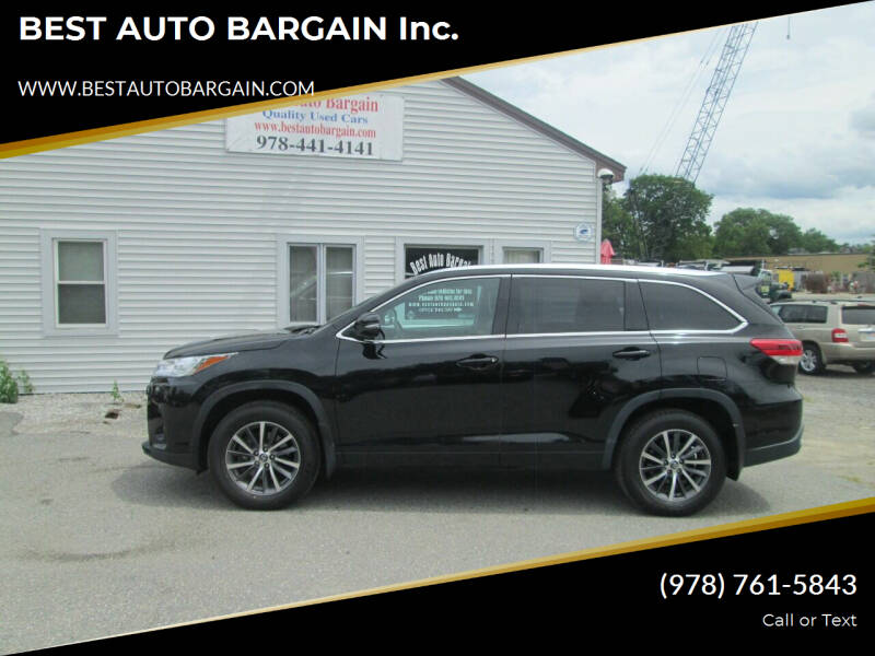 2017 Toyota Highlander for sale at BEST AUTO BARGAIN inc. in Lowell MA