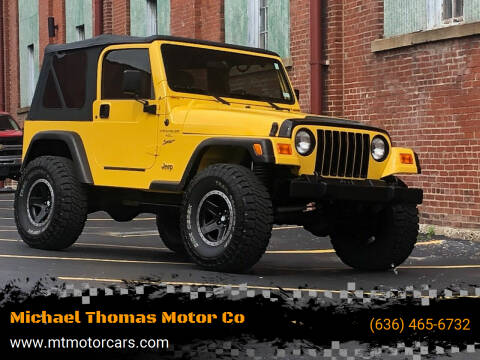 2000 Jeep Wrangler for sale at Michael Thomas Motor Co in Saint Charles MO