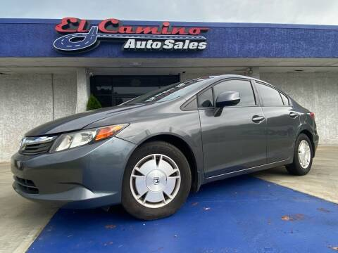 2012 Honda Civic for sale at El Camino Auto Sales in Gainesville GA
