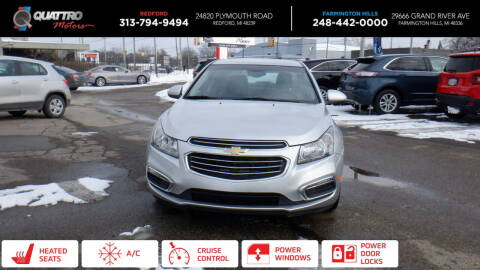 2016 Chevrolet Cruze Limited for sale at Quattro Motors 2 in Farmington Hills MI