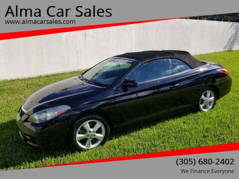 2008 Toyota Camry Solara for sale at Alma Car Sales in Miami FL