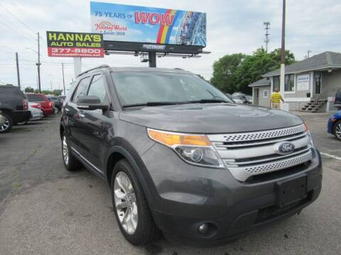 2015 Ford Explorer for sale at Hanna's Auto Sales in Indianapolis IN