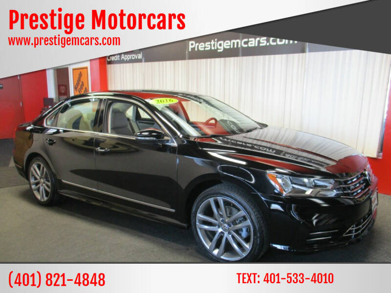 2016 Volkswagen Passat for sale at Prestige Motorcars in Warwick RI