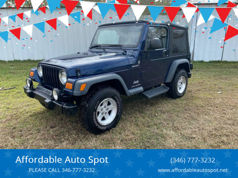 2004 Jeep Wrangler for sale at Affordable Auto Spot in Houston TX