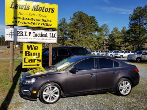 2016 Chevrolet Cruze Limited for sale at Lewis Motors LLC in Deridder LA