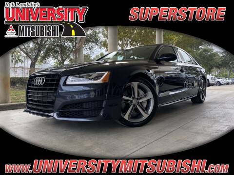 2018 Audi A8 L for sale at University Mitsubishi in Davie FL