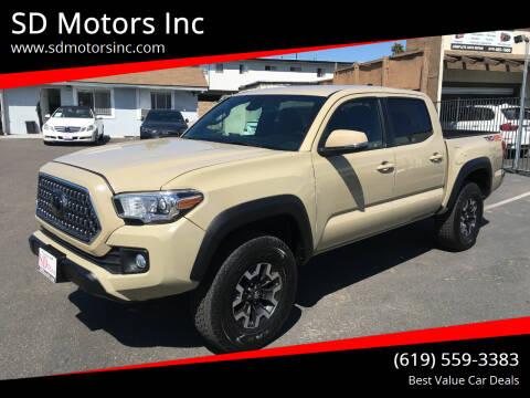 2018 Toyota Tacoma for sale at SD Motors Inc in La Mesa CA