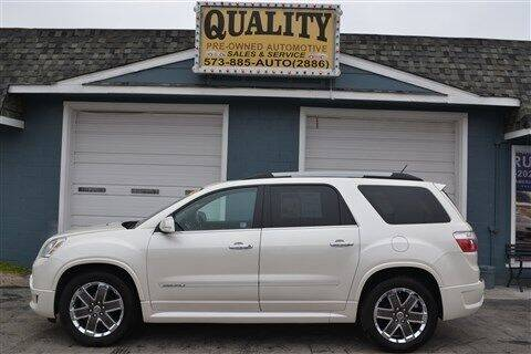 2012 GMC Acadia for sale at Quality Pre-Owned Automotive in Cuba MO