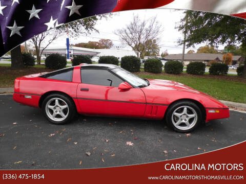 1989 Chevrolet Corvette for sale at CAROLINA MOTORS in Thomasville NC