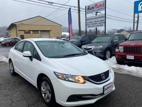 2013 Honda Civic for sale at Auto Match in Waterbury CT