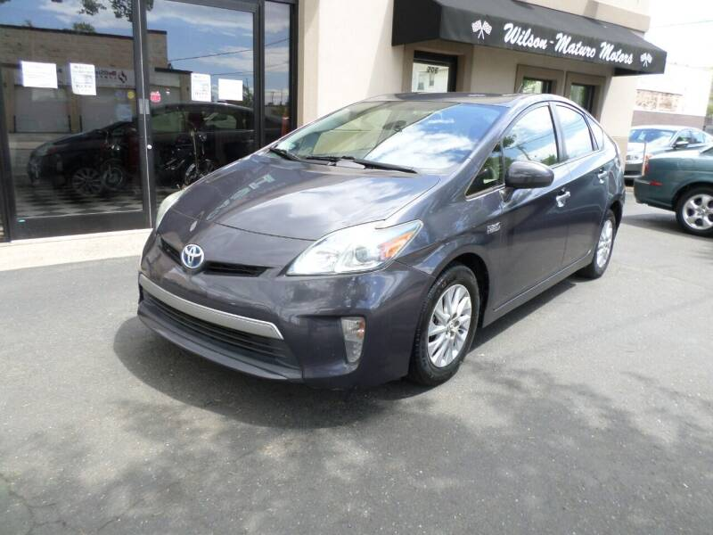 2012 Toyota Prius Plug-in Hybrid for sale at Wilson-Maturo Motors in New Haven CT