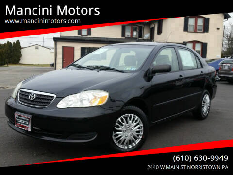 2006 Toyota Corolla for sale at Mancini Motors in Norristown PA