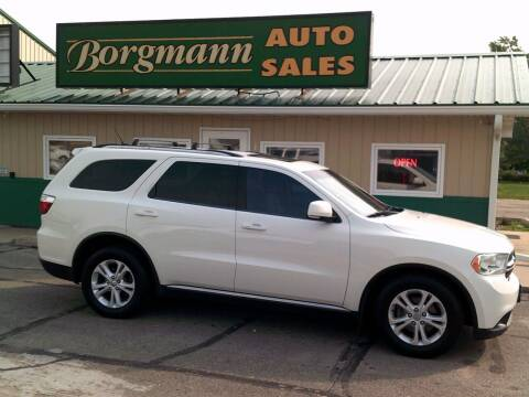 2012 Dodge Durango for sale at Borgmann Auto Sales in Norfolk NE