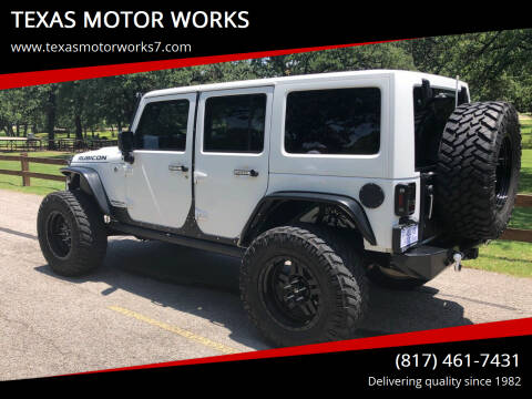 2014 Jeep Wrangler Unlimited for sale at TEXAS MOTOR WORKS in Arlington TX