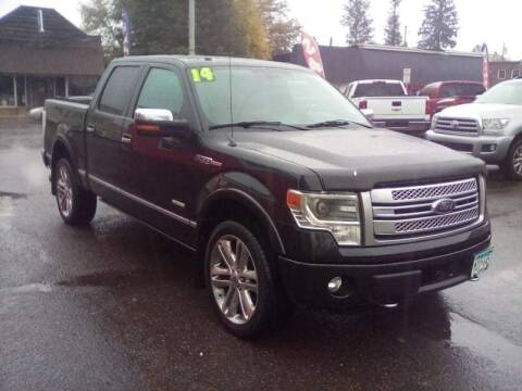 2014 Ford F-150 for sale at WB Auto Sales LLC in Barnum MN