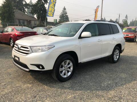 2011 Toyota Highlander for sale at A & V AUTO SALES LLC in Marysville WA