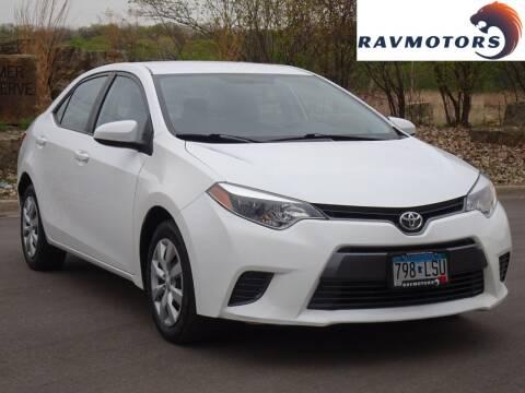 2015 Toyota Corolla for sale at RAVMOTORS in Burnsville MN