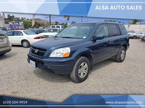 2003 Honda Pilot for sale at ALSA Auto Sales in El Cajon CA