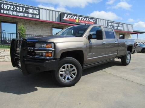 2015 Chevrolet Silverado 2500HD for sale at Lightning Motorsports in Grand Prairie TX