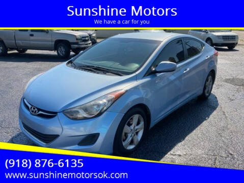 2013 Hyundai Elantra for sale at Sunshine Motors in Bartlesville OK