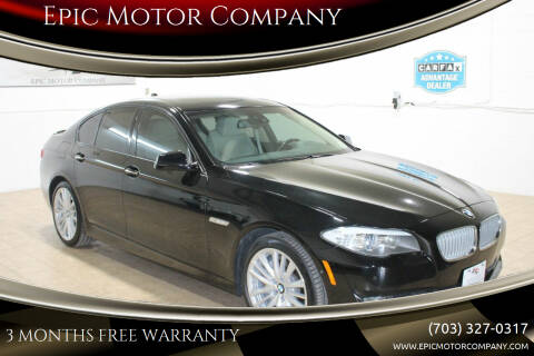 2011 BMW 5 Series for sale at Epic Motor Company in Chantilly VA