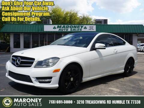 2015 Mercedes-Benz C-Class for sale at Maroney Auto Sales in Humble TX