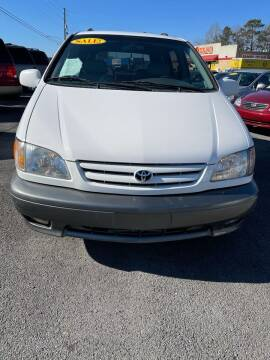 2002 Toyota Sienna for sale at SRI Auto Brokers Inc. in Rome GA