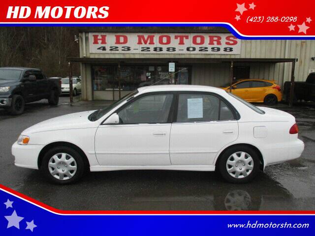 2001 Toyota Corolla for sale at HD MOTORS in Kingsport TN