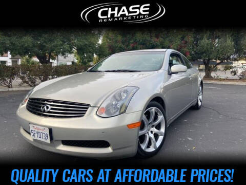 2004 Infiniti G35 for sale at Chase Remarketing in Fremont CA