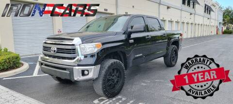 2015 Toyota Tundra for sale at IRON CARS in Hollywood FL