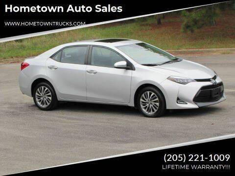 2017 Toyota Corolla for sale at Hometown Auto Sales - Cars in Jasper AL
