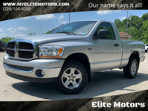 2006 Dodge Ram Pickup 1500 for sale at Elite Motors in Uniontown PA