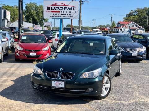 2008 BMW 5 Series for sale at Supreme Auto Sales in Chesapeake VA