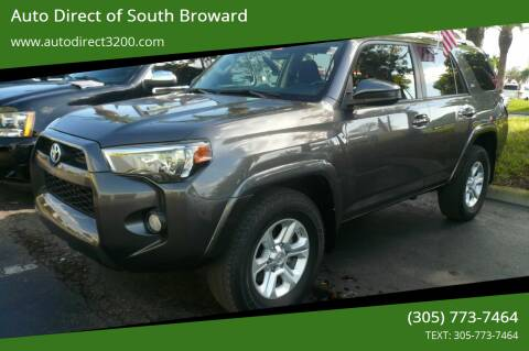 2016 Toyota 4Runner for sale at Auto Direct of South Broward in Miramar FL