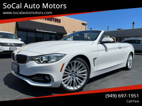 2014 BMW 4 Series for sale at SoCal Auto Motors in Costa Mesa CA