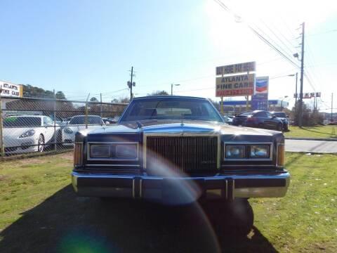 1989 Lincoln Town Car for sale at Atlanta Fine Cars in Jonesboro GA
