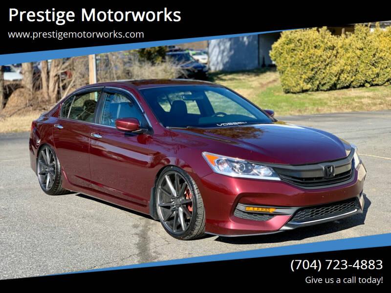 2017 Honda Accord for sale at Prestige Motorworks in Concord NC